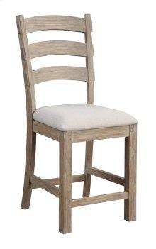 "Emerald Home Castle Bay Barstool 24"" Upholstered Seat Pine D952-24"