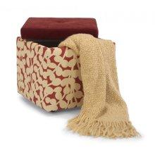 Kube Fabric and Kashmira Storage Ottoman