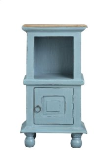 CC-TAB016TLD-BBSV  Cottage Table  Two Tone Beach Blue and Brown