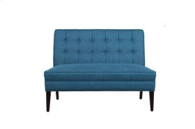 Settee Love Seat, Blue Fabric