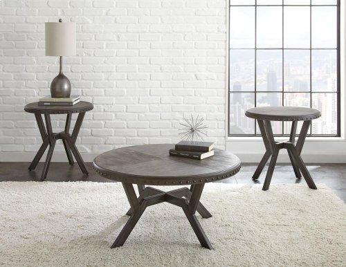 """Alamo Round End Table 24"""" x 24"""" x 24"""""""