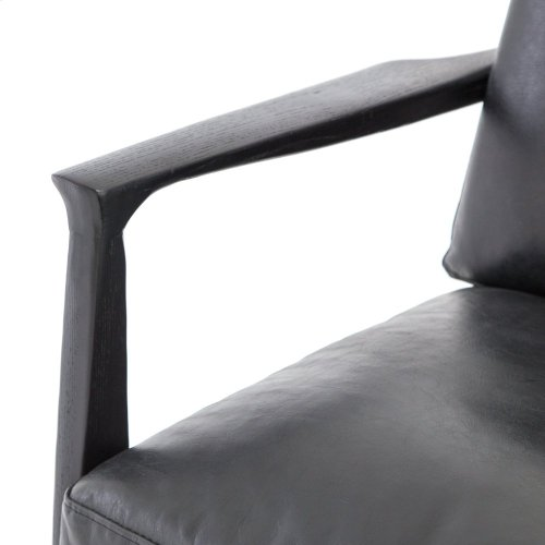 Aged Black Cover Silas Chair