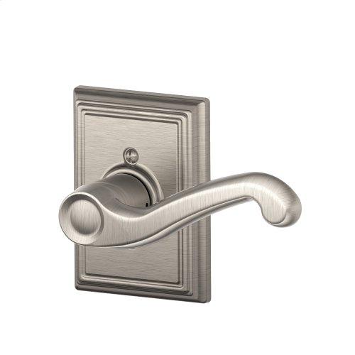 Flair Lever with Addison Trim Non-Turning Lock - Satin Nickel