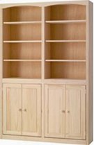 Pine 48 Inch Bookcase with Doors Product Image
