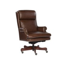 Coffee Leather Executive Chair