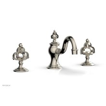 COURONNE Widespread Faucet Cross Handles 163-01 - Polished Nickel