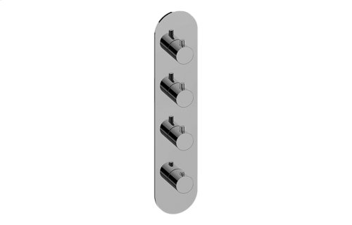 M-Series Round Thermostatic 4-Hole Trim Plate and Handle