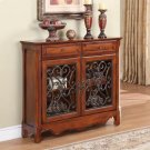 """""""Light Cherry"""" 2-Door, 2-Drawer Scroll Console Product Image"""