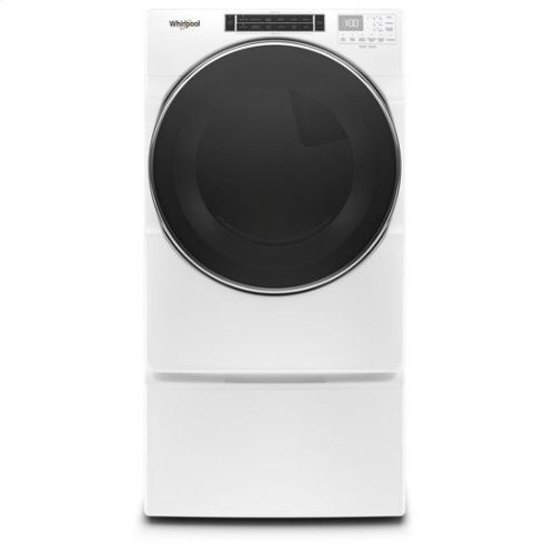 Whirlpool® 7.4 cu.ft Front Load Electric Dryer with Intiutitive Touch Controls, Steam Refresh Cycle - White