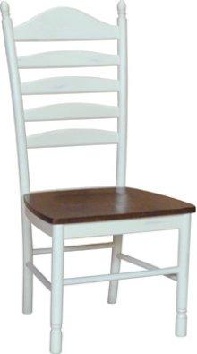 Ladder Back Chair Alabaster & Espresso
