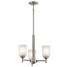 Shailene Collection Shailene 3 Light Mini Chandelier - Brushed Nickel