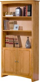 Alder Shaker Bookcase 72H with Doors Product Image