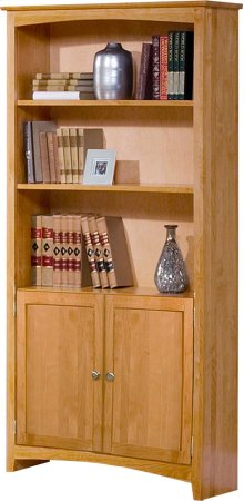 Alder Shaker Bookcase 72H with Doors