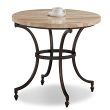 Oval Travertine Stone Top Side Table with Rubbed Bronze Metal Base #10123