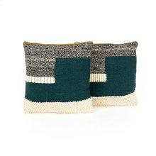 "24x24"" Size Color Block Pillow, Set of 2"