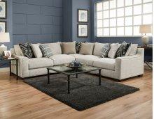 1400 Homespun Platinum 3-Piece Sectional