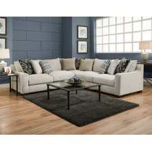 1400 Homespun Platinum 3-Piece Sectional