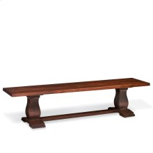 Avalon Dining Bench, Wood Seat