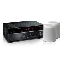 MusicCast RX-V485 Bundle - White 5.1-Channel AV Receiver with MusicCast
