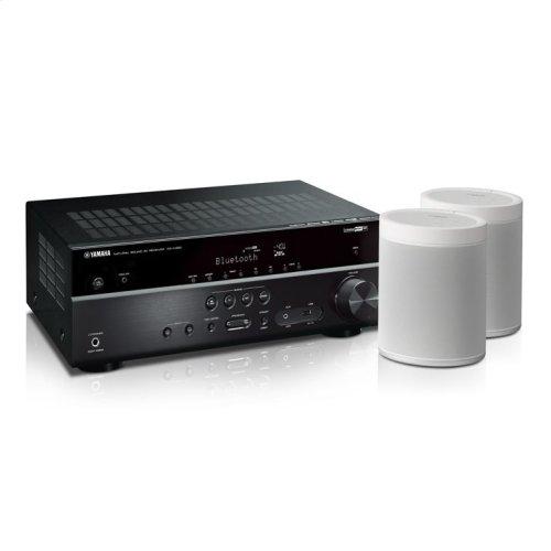 MusicCast RX-V485 Bundle - Black 5.1-Channel AV Receiver with MusicCast
