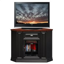 "Black Cherry 46"" Corner TV Console #87232"