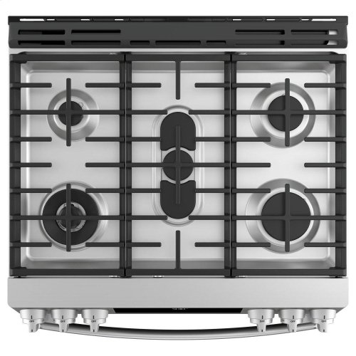 "GE Profile™ Series 30"" Slide-In Front Control Gas Range"