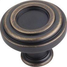 "1-3/8"" Diameter Plain Lafayette Cabinet Knob."
