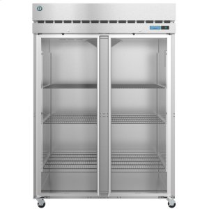 HoshizakiF2A-FG, Freezer, Two Section Upright, Full Glass Doors with Lock