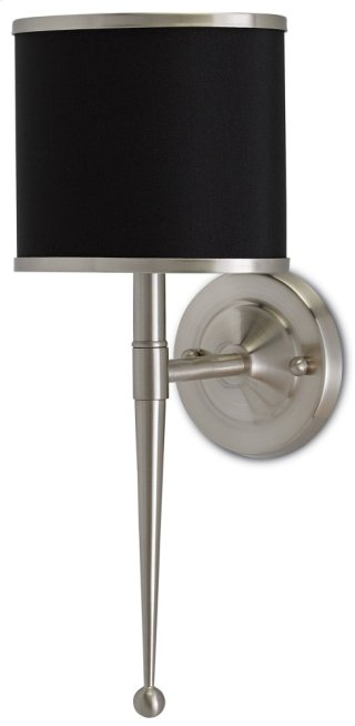 Primo Wall Sconce with Black Shade - 8w x 19h x 8d