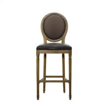 French Vintage Louis Glove Back Counter Stool