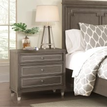 Dara Two - Three Drawer Nightstand - Gray Wash Finish