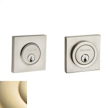 Lifetime Polished Brass Contemporary Square Deadbolt