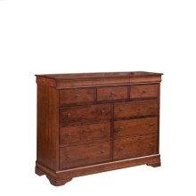 Louis Philippe 9-Drawer Bureau, Medium