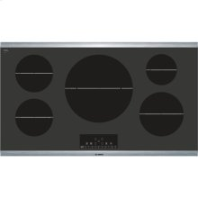 """36"""" Induction Cooktop 800 Series - Black with Stainless Steel Strips"""