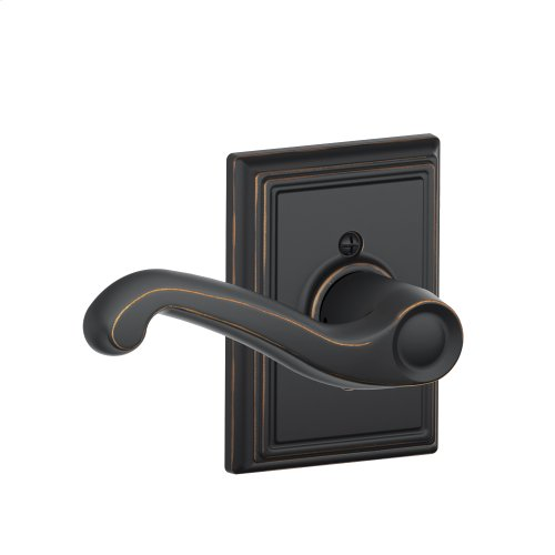 Flair Lever with Addison trim Non-turning Lock - Aged Bronze