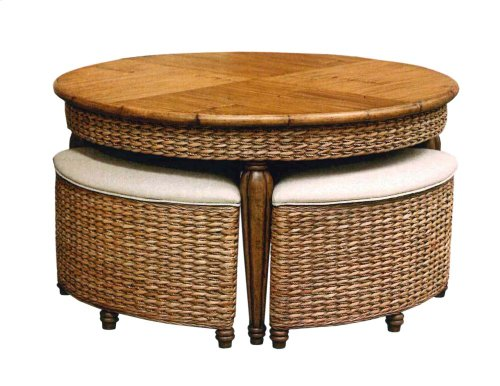 Hassock Table, Available in Antique Palm Finish Only.
