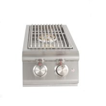 Blaze Built-In LTE Double Side Burner with Lights, With Fuel Type - Natural Gas