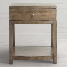 Western Brown Compass Bedside Table