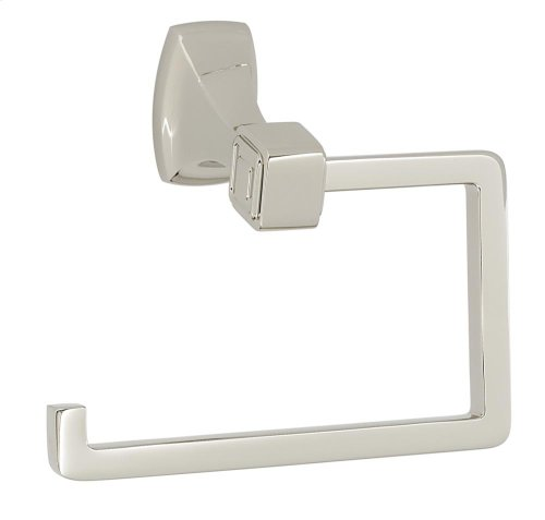 Cube Single Post Tissue Holder A6566 - Polished Nickel