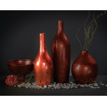 Candy Apple Red Vase