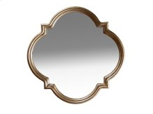 Cosmopolitan Shaped Mirror - White Bronze