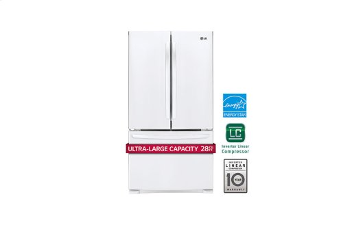 28 cu. ft. Ultra Capacity 3-Door French Door Refrigerator w/Smart Cooling®