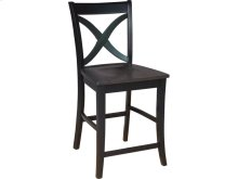Salerno Stool in Coal & Black
