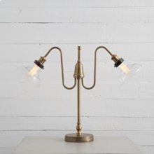 Antique Gold Mercury Finish Crawford Desk Lamp
