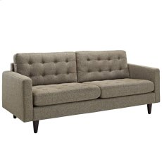 Empress Upholstered Fabric Sofa in Oatmeal Product Image