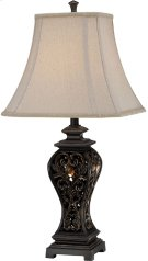 Table Lamp - Aged Brass Finished/fabric Shade, E27 A 150w Product Image