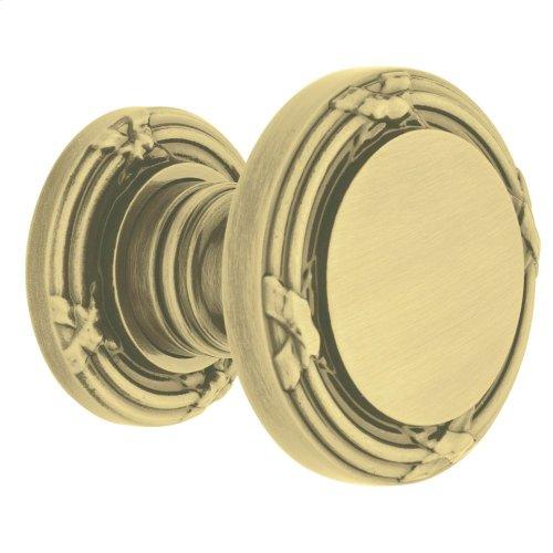 Satin Brass and Brown 5013 Estate Knob