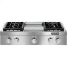 """Pro-Style® Gas Rangetop with Griddle, 36"""", Stainless Steel Product Image"""