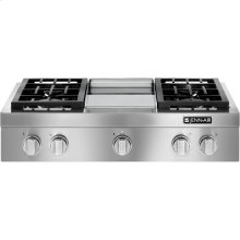 "Pro-Style® 36"" Gas Rangetop with Griddle, Stainless Steel"