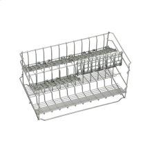 Long stemware basket